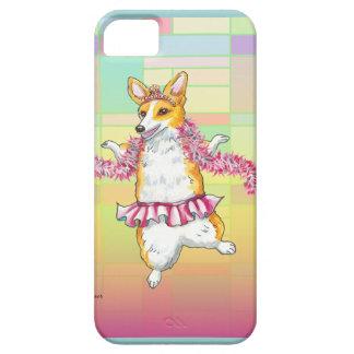 Dancing Corgi in Tutu with Feather Boa iPhone SE/5/5s Case