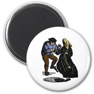 Dancing Couple 2 Inch Round Magnet