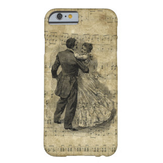 Dancing Couple Antique Music Note Inspired Classy Barely There iPhone 6 Case