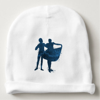 Dancing couple baby beanie