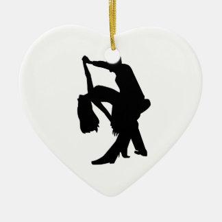 Dancing couple ceramic ornament