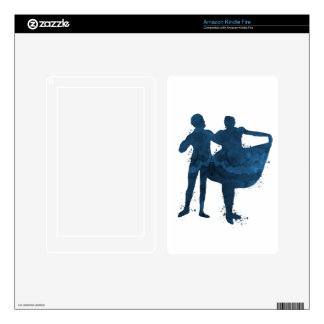 Dancing couple decals for kindle fire