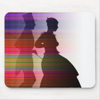 dancing couple in sillouette mouse pad