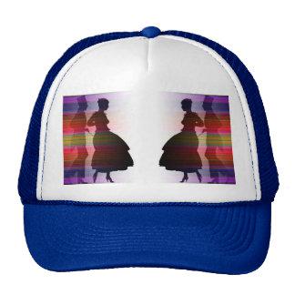 dancing couple in sillouette trucker hat