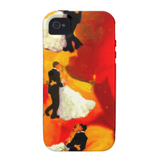 Dancing couple in wedding party Case-Mate iPhone 4 case