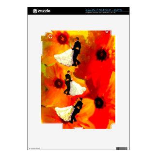 Dancing couple in wedding party iPad 3 skins