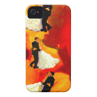 Dancing couple in wedding party iPhone 4 cover