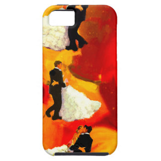 Dancing couple in wedding party iPhone SE/5/5s case