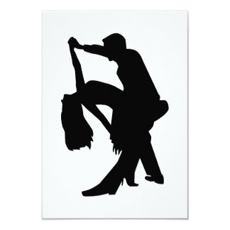 Dancing couple 3.5x5 paper invitation card
