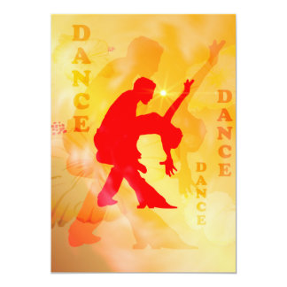 Dancing couple on a soft background 5x7 paper invitation card