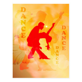 Dancing couple on a soft background postcard