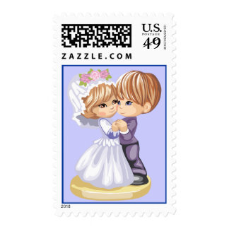 Dancing Couple Postage Stamp