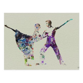 Dancing couple postcard