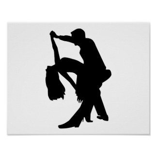 Dancing couple poster