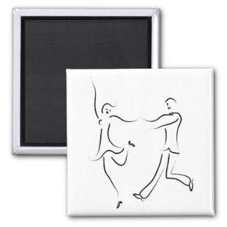Dancing Couple Sketch Magnet