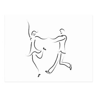 Dancing Couple Sketch Post Cards