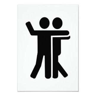 Dancing couple symbol 3.5x5 paper invitation card