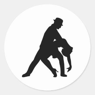 Dancing couple tango stickers