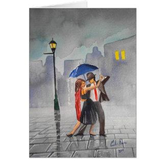DANCING COUPLE UMBRELLA CARD