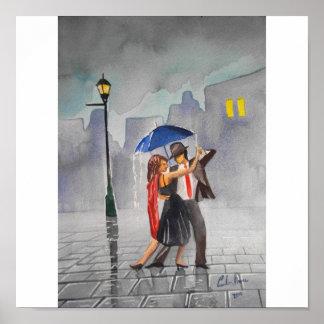 DANCING COUPLE UMBRELLA POSTER