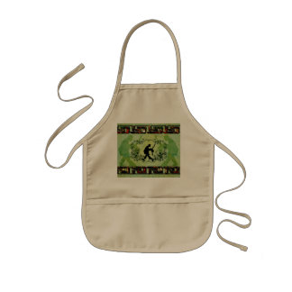 Dancing couple with roses kids' apron