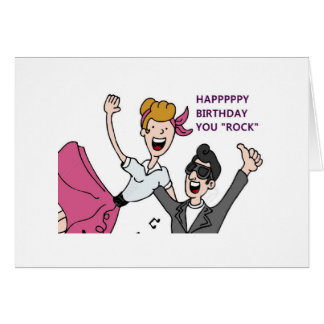 DANCING COUPLE-YOU ROCK MY WHOLE WORLD-BIRTHDAY CARD
