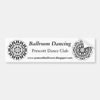Dancing Couples Mandala Bumper Sticker 2
