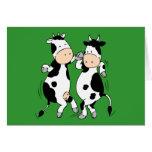 Dancing Cows (mooviestars) Greeting Card