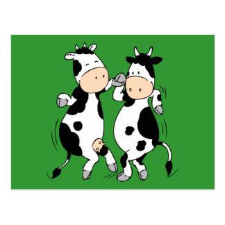 Dancing Cows mooviestars Post Cards