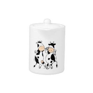 Dancing Cows (mooviestars) Teapot