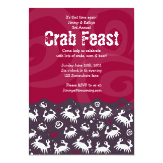 Dancing CRAB FEST FEAST Dinner Party Invitation