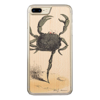 Dancing Crustacean On Wood Carved iPhone 8 Plus/7 Plus Case