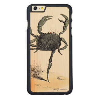 Dancing Crustacean On Wood Carved Maple iPhone 6 Plus Case