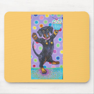 DANCING CUPCAKE DOXIE MOUSE PAD
