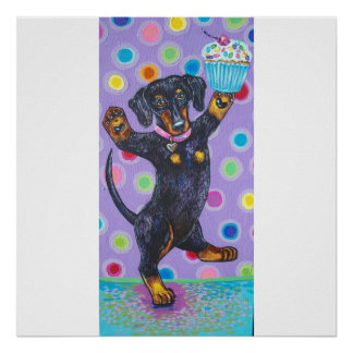 DANCING CUPCAKE DOXIE POSTER