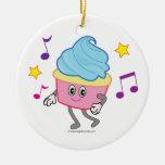 Dancing Cupcake Ornament