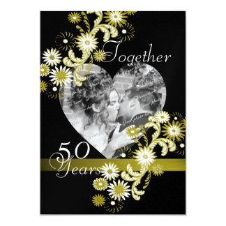 Dancing Daisies/ 50th Anniversary 5x7 Paper Invitation Card