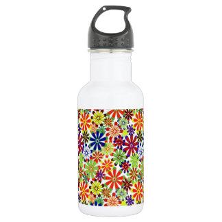 Dancing Daisies Retro Design Water Bottle