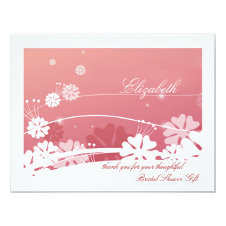 Bridal Shower Thank You Notes Invitations Announcements Zazzle