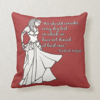Dancing Days Throw Pillow