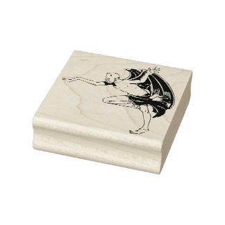 Dancing demon illustration art stamp