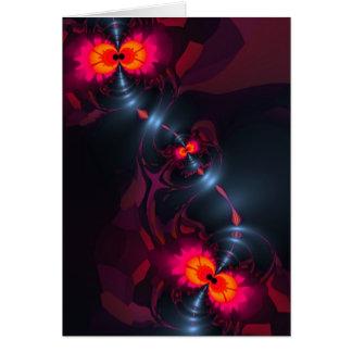 Dancing Devas – Violet & Salmon Sight Card