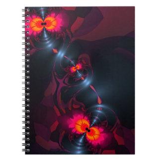 Dancing Devas – Violet & Salmon Sight Spiral Note Book