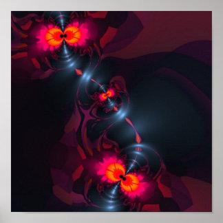 Dancing Devas – Violet Salmon Sight Poster