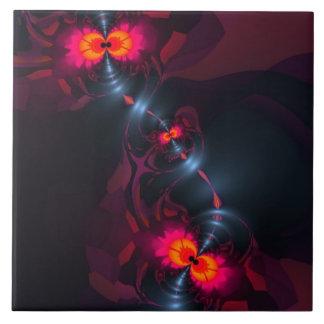 Dancing Devas – Violet & Salmon Sight Tile