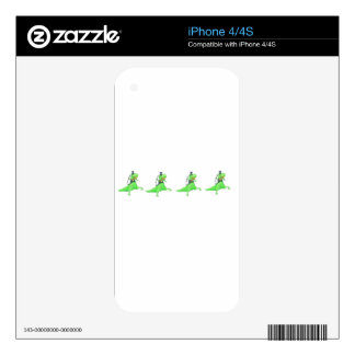 Dancing dinosaurs decal for the iPhone 4