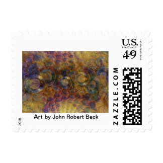 Dancing Discs Postage Stamp