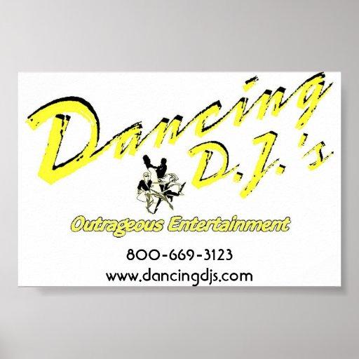 Dancing Dj poster