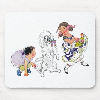 Dancing Dog and Girl Mouse Pad