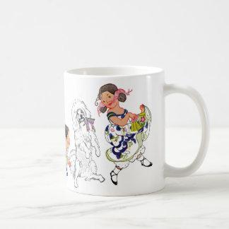 Dancing Dog and Girl Mug